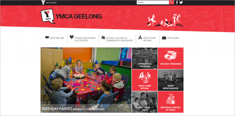 YMCA Geelong Launch Website